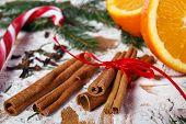 Cinnamon and oranges for Christmas