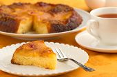 pineapple cake and cup of tea