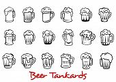 Beer tankards set