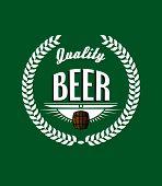 Retro beer label