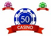 Casino chip emblem