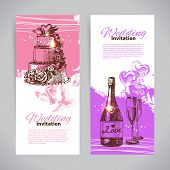 Wedding invitations. Banner set