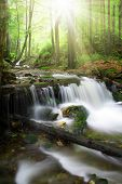 Beautiful waterfalls in the Bavarian Forest-Germany