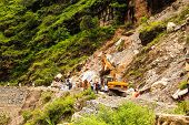 Clear Highway After Landslide