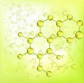 Green Molecule Bond Background (vector)