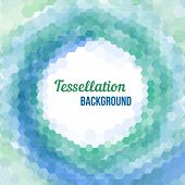 Abstract Tessellation Background