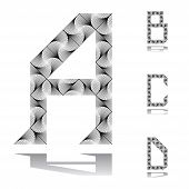 Design Abc Letters From A To D