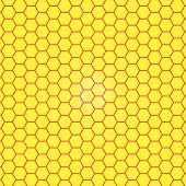 Abstract honeycomb background.  blurry light effects