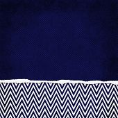 Square Blue And White Zigzag Chevron Torn Grunge Textured Background