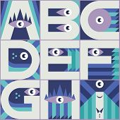 Monster Font A B C D E F G H I