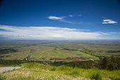 Landscape Of Huge, Flat Plateau, Prairie.