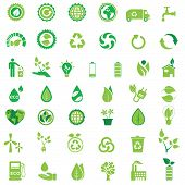 Ecology icons set