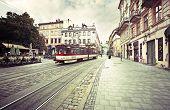 Vintage oldtown street in Lviv