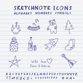 Doodle Russian Icons