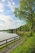 Lakeside Of Seehamer See, Tourist Resort, Germany