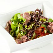 image of duck breast  - Breast of Duck Salad with Sauce - JPG