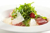Risotto with Parma Ham, Rucola and Parmesan Cheese