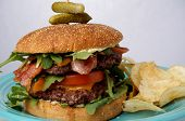 Great Bacon And Cheese Burger