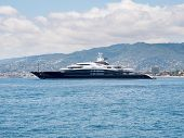 CANNES, FRANCE - AUGUST 13: Luxury mega yacht SERENE anchored in French Riviera. August 13, 2014 in