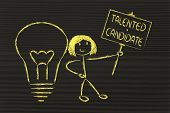 Girl With Ideas And Knowledge: Talented Candidate