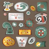 Travel stickers set