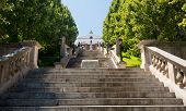 image of virginia  - Monument Terrace designed in 1925 as series of steps and memorials up to Courthouse in Lynchburg Virginia - JPG