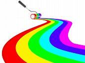 painted rainbow stripes