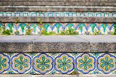 Ceramic Tiles On The Staircase