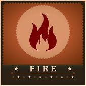 Fire flame vector poster creative design template