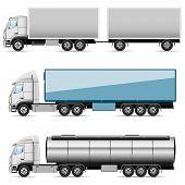 Illustration set of icons trucks.