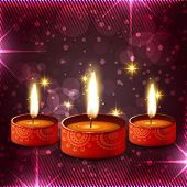 Vector creative colorful diwali diya background