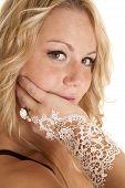 Woman Lace Up Arm Ring Bracelet