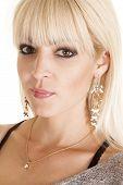 Woman Side Dangle Earrings Necklace