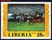 Vintage  Postage Stamp.  Riding.  Prix De Nations.