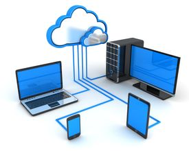 picture of intranet  - Abstract cloud storage on white background  - JPG