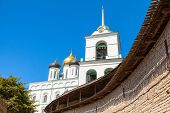 image of trinity  - Classical Russian ancient religious architecture example - JPG
