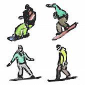 Drawn Snowboarders