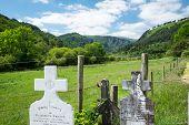 Gravestones And Valley