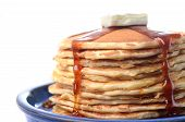 Traditional Pancakes With Syrup And Butter