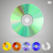 Cd disks of different colors