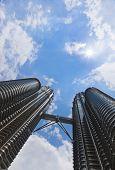 KUALA-LUMPUR, MALAYSIA - APRIL 07: Twin towers Petronas at April 07, 2011, Kuala Lumpur, Malaysia.
