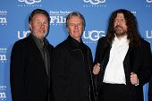 SANTA BARBARA - JAN 30:  Kansas - (l-r) Budd Carr, Phil Ehart, Robby Steinhandt at the SBIFF - Montecito Award at a Arlington Theater on January 30, 2015 in Santa Barbara, CA