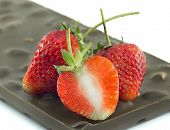 Strawberry On Chocolate