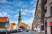 Saint Peters Church At Riga Old Town