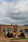 stock photo of pueblo  - Detail from Taos Pueblo in New Mexico - JPG