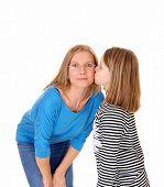 Girl Kissing Her Mom.