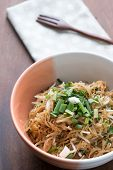 Vermicelli Rice Noodles Fried With Green Onions