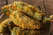 stock photo of jalapeno  - Homemade Breaded Jalapeno Poppers with Cream Cheese - JPG