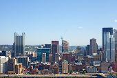 Pittsburgh Pennsylvania USA skyline panorama of business buildings