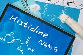 Tablet with the chemical formula of Histidine